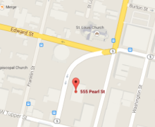 Collision Masters 555 Pearl St Location Map